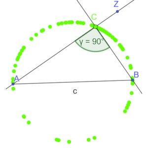 Vorschaubild Den Satz des Thales mit GeoGebra entdecken