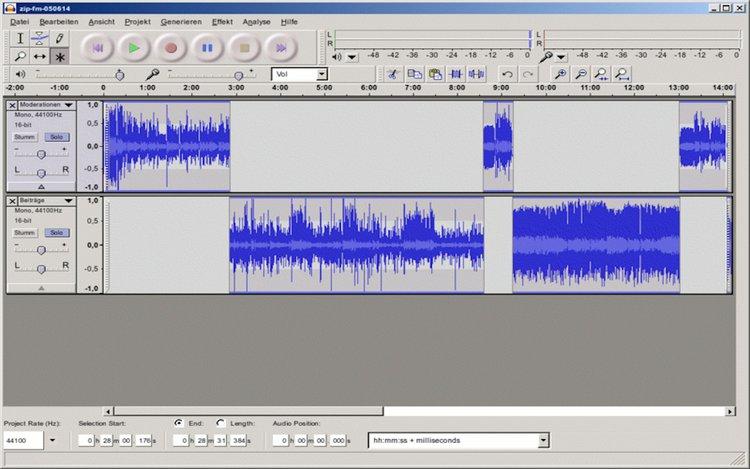 Soundcollagen erstellen mit Audacity