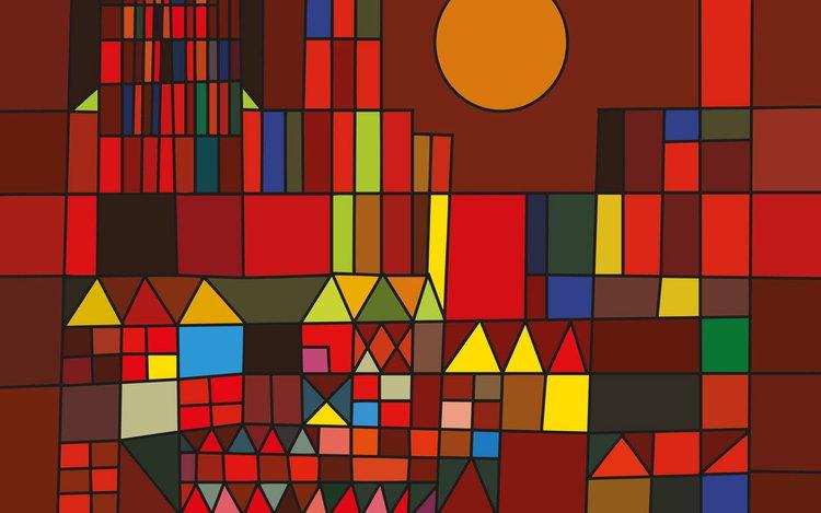 """Formen im Bild """"Burg und Sonne"""" nach Paul Klee"""