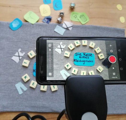 Erstellung von Stop-Motion-Videos über die  Stationen der Textilen Kette
