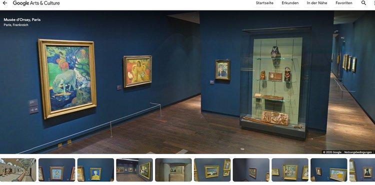 Zu Hause im Museum - ein virtueller Rundgang durch das Musée d'Orsay in Paris