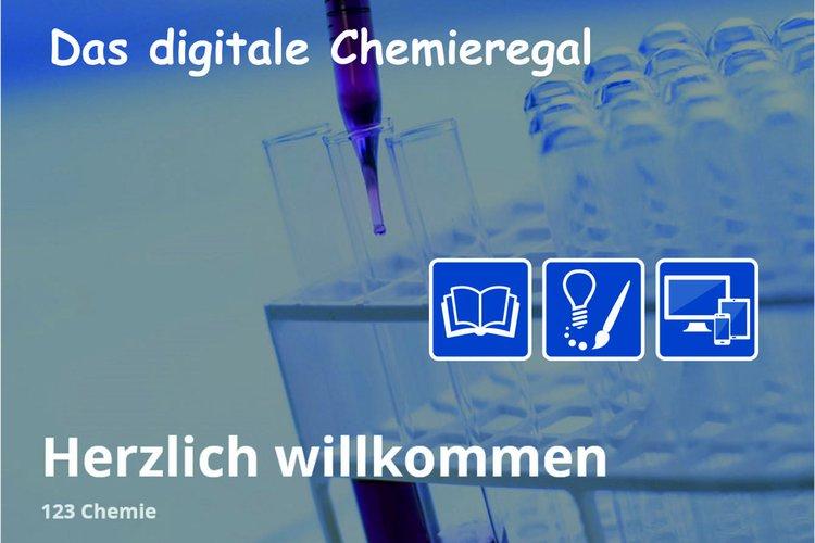 Digitales Chemieregal