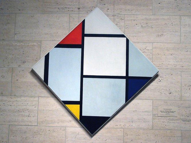 Kunstprojekt Piet Mondrian